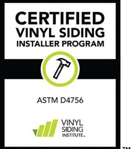 VSI Certified Siding Installer Logo